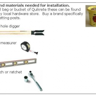 list of tools and materials needed for inground rail installation